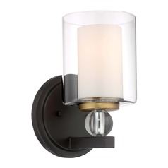 Minka Lavery Studio Painted Bronze W/ Natural Brushed Brass Sconce