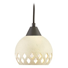 Hinkley Lighting Edie Oil Rubbed Bronze Mini-Pendant Light with Bowl / Dome Shade
