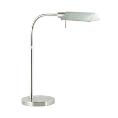 Modern Pharmacy Lamp in Satin Nickel Finish
