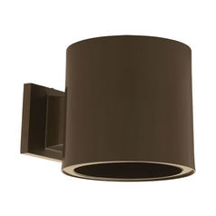 Modern Outdoor Wall Light in Antique Bronze Finish