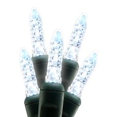 White LED Christmas Tree Lights - 25 Feet Long / 50 Lights