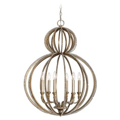 Crystorama Lighting Garland Distressed Twilight Pendant Light
