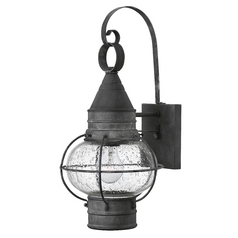 Hinkley Lighting Cape Cod Aged Zinc Outdoor Wall Light