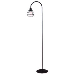 Kenroy Home Caged Oil Rubbed Bronze Floor Lamp with Globe Shade