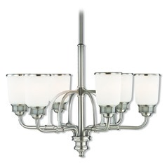 Livex Lighting Lawrenceville Brushed Nickel Chandelier