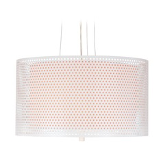 Lite Source Parmida White Pendant Light with Drum Shade