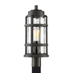 Industrial Post Light Bronze DeSoto by Quoizel Lighting
