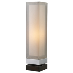 Modern Table Lamp with Silver Shade in Chrome and Espresso Finish
