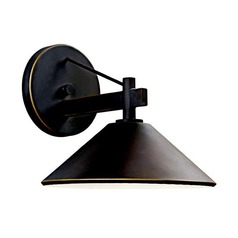 Kichler 9-Inch Tall Outdoor Wall Light with 9-Watt LED PAR20 Bulb