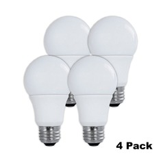 LED A19 Light Bulbs 60-Watt 3000K by TCP Lighting 4-Pack