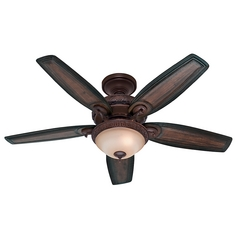 Hunter Fan Company Claymore Brushed Cocoa Ceiling Fan with Light