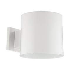 Progress Lighting Modern Outdoor Wall Light in White Finish P6007-28