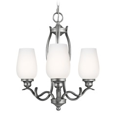 Feiss Lighting Standish Heritage Silver Mini-Chandelier