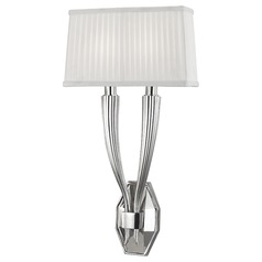 Erie 2 Light Sconce - Polished Nickel