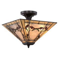 Quoizel Lighting Monteclaire Western Bronze Semi-Flushmount Light