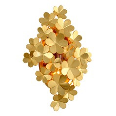Corbett Lighting Gigi Gold Leaf Sconce