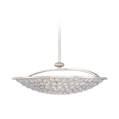 Crystal Bowl Pendant Light in Polished Nickel Finish - 5-Lights