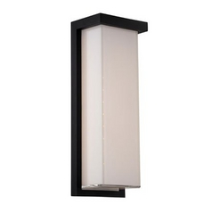 Modern LED Outdoor Wall Light in Black Finish