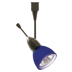 WAC Lighting Dark Bronze Track Light with Blue Shade