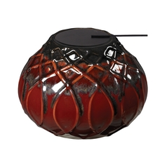 Sterling Lighting Mococca Red Glaze Candle Holder