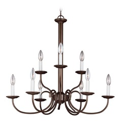 Sea Gull Lighting Holman Bell Metal Bronze Chandelier