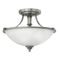 Hinkley Lighting Truman Antique Nickel LED Semi-Flushmount Light