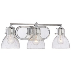 Seeded Glass Bathroom Light Chrome Minka Lavery