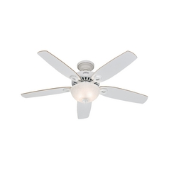 Hunter Fan Company Builder Deluxe White Ceiling Fan with Light