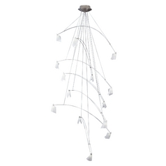 Tech Crescendo Chandelier Satin Nickel Chandelier 12V