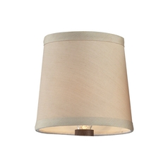 Clip-On Beige Chandelier Lamp Shade