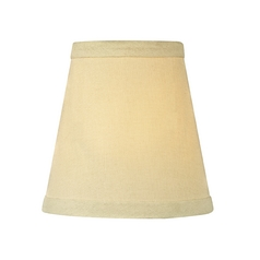 Cream Linen Conical Lamp Shade with Clip-On Assembly