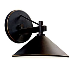 Kichler 7-3/8-Inch Outdoor Wall Light with 8.5-Watt LED Bulb