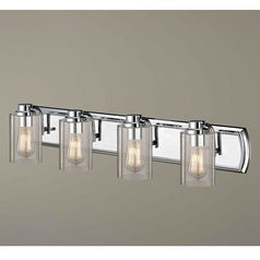 Industrial 4-Light Vanity Light in Chrome