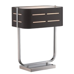 Lite Source Birungi Chrome Table Lamp with Rectangle Shade