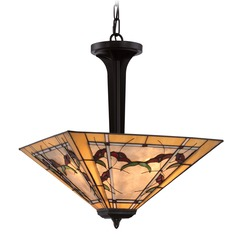 Quoizel Lighting Monteclaire Western Bronze Pendant Light with Square Shade