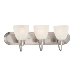 Designers Fountain Torino Brushed Nickel Bathroom Light
