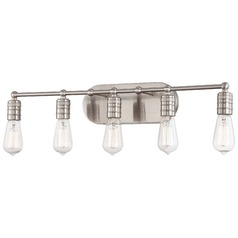 Downtown Edison Brushed Nickel Bathroom Light