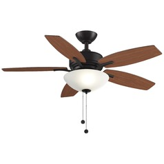 Fanimation Fans Aire Delux Dark Bronze Ceiling Fan with Light
