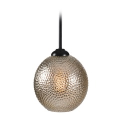 Oil Rubbed Bronze Mini-Pendant Light Seeded Mercury Glass Globe Kenroy Home Lighting