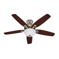 Hunter Fan Company Builder Deluxe Brushed Nickel Ceiling Fan with Light