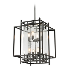 Seeded Glass Pendant Light Oil Rubbed Bronze Elk Lighting