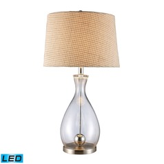 Dimond Lighting Clear Glass, Chrome LED Table Lamp with Empire Shade