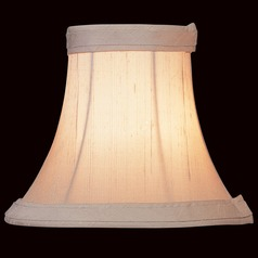 Silver Bell Lamp Shade with Clip-On Assembly