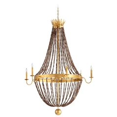 Cyan Design Alessia Gold Leaf Chandelier