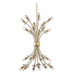 Hudson Valley Lighting Alexandria Aged Brass Chandelier