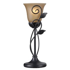 Kenroy Home Arbor Oil Rubbed Bronze Table Top Torchiere Lamp with Bell Shade