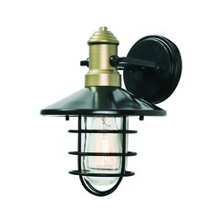 Mid-Century Modern Outdoor Wall Light Bronze and Gold Outlook by Kenroy Home