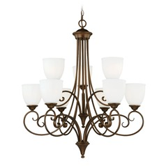 Claret Venetian Bronze Chandelier by Vaxcel Lighting