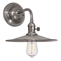 Sconce Wall Light in Historic Nickel Finish