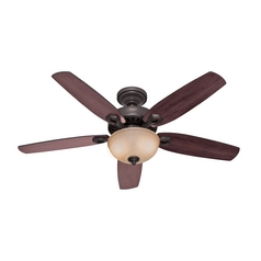Hunter Fan Company Builder Deluxe New Bronze Ceiling Fan with Light